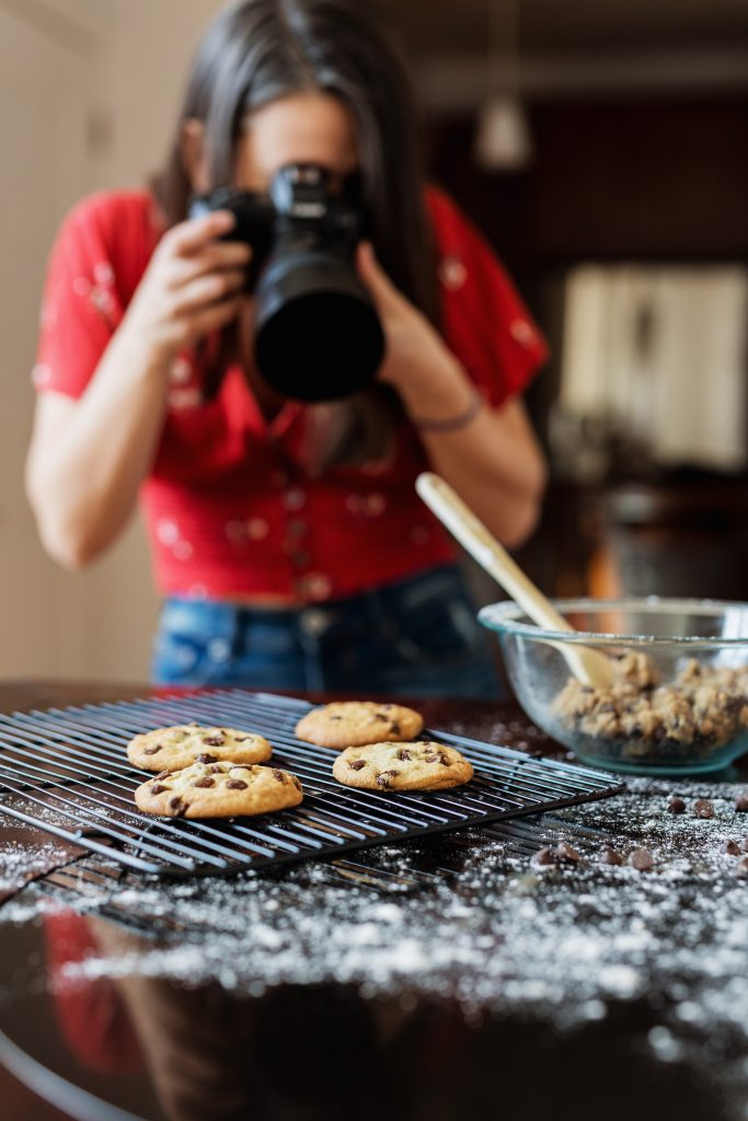 Jen Marvel food styling and photographing cookies