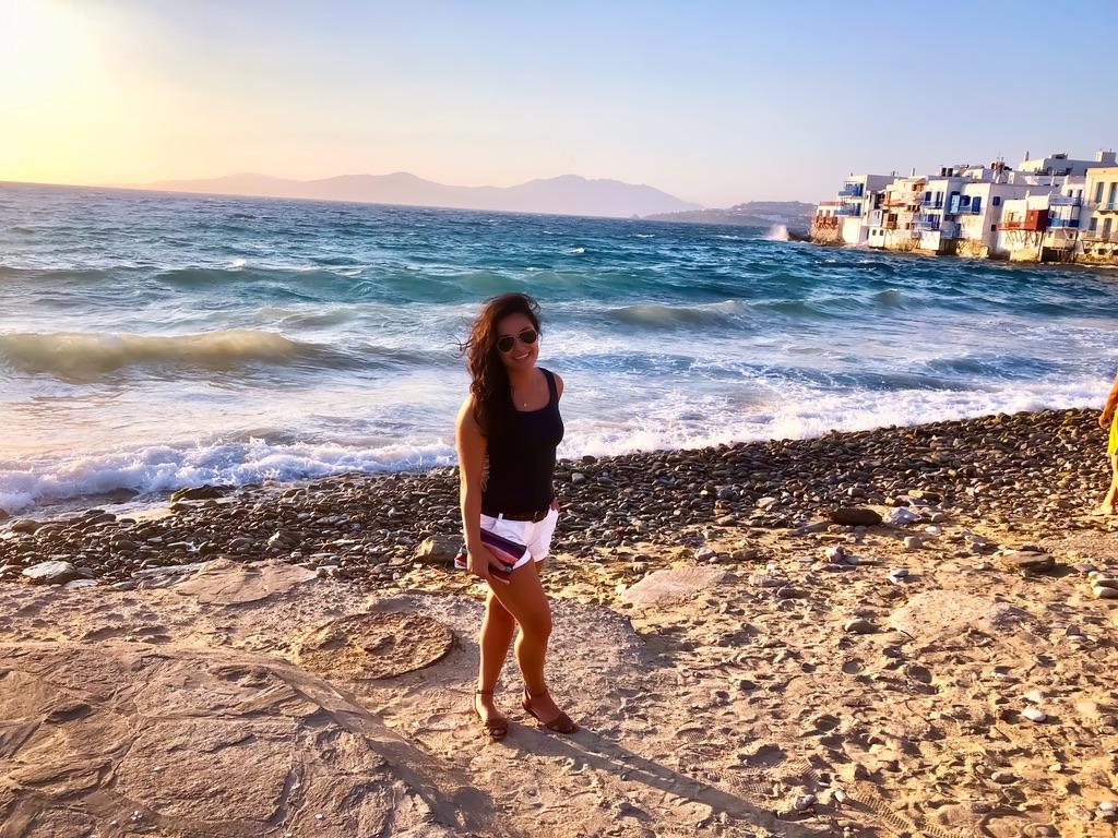 Arminé Gambaryan vacationing in Greece
